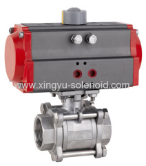 Pneumatic Female Thread 3-piece Ball Valve
