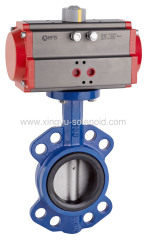 Pneumatic wafer & flange type butterfly valve