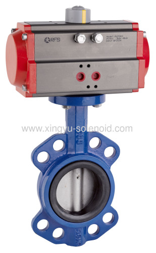 Pneumatic soft and metal seal butterfly valve