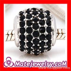 European Black Crystal european Beads