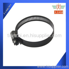black worm drive hose clamp