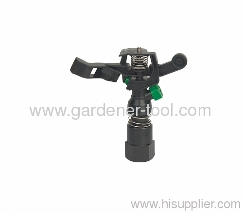 Plastic Water impulse sprinkler with Double Opposed nozzle