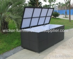 Garden wicker knockdown storage boxs in big sizes