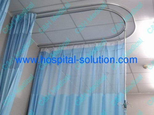 Ceiling Mounted Aluminum Alloy Rails And Cubic Curtains