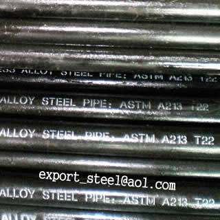ASTM A213 T22 Seamless alloy pipe