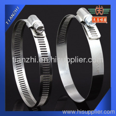 Stainless steel worm drive band clamp