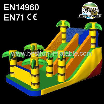 Inflatable Palm Dry Slide