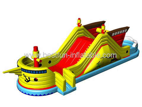 2013 New Design Inflatable Fregatte Slide