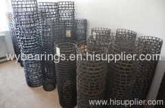Pressed steel cage manufacture