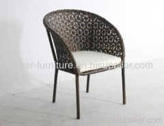 Patio rattan excellent hand weaving single chairs