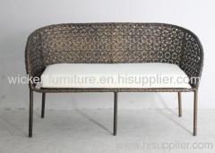 Garden wicker chrysanthermum hand weaving 2-seater chairs