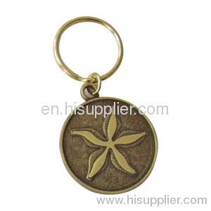 Customized Shape Design Badge Coin Medallion Keychain