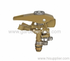 Metal Garden Water Pulse Sprinkler With male Tap