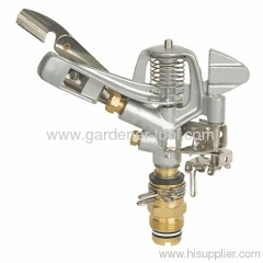 Water hose sprinkler with brass nozzle