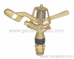 garden lawn sprinkler head with brass nozzle for full circle