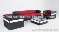 Patio solar lamp wicker sofa sets