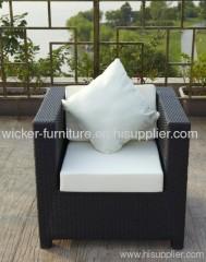 Patio wicker single chairs