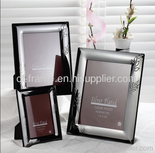 stainless steel sliver plated tabletop photo frame