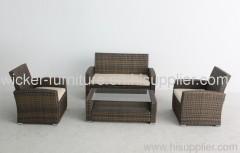 Patio wicker furniture knockdow sofas