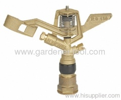 farm irrigation system with brass sprinkler head
