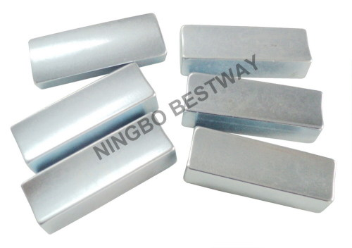 N35H Ndfeb Arc magnets with Zn coating