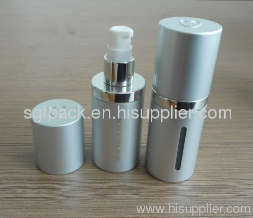 Lotion bottle Anodized Aluminum bottle pump bottle makeup package foundation cosmetic container bottle with window