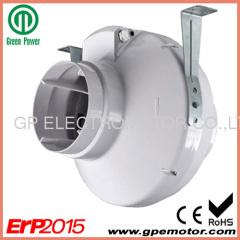 5 inch ABS kunststof in-line centrifugaal ventilator met achterwaarts gebogen centrifugaal ventilator