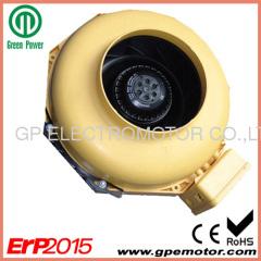 115V AC 6 inch Inline kanaalventilator met ABS kunststof behuizing en achterovergebogen schoepen CK150