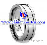 Tungsten Grooved Ring
