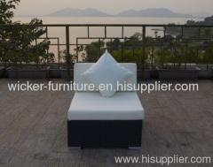 Leisure garden rattan armless chairs