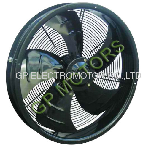 Low noise 380V AC Inline Axial flow fan blower with external rotor motor from