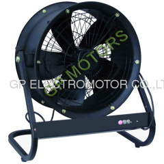 220V AC Portable Inline Axial tube fan with external rotor motor by design