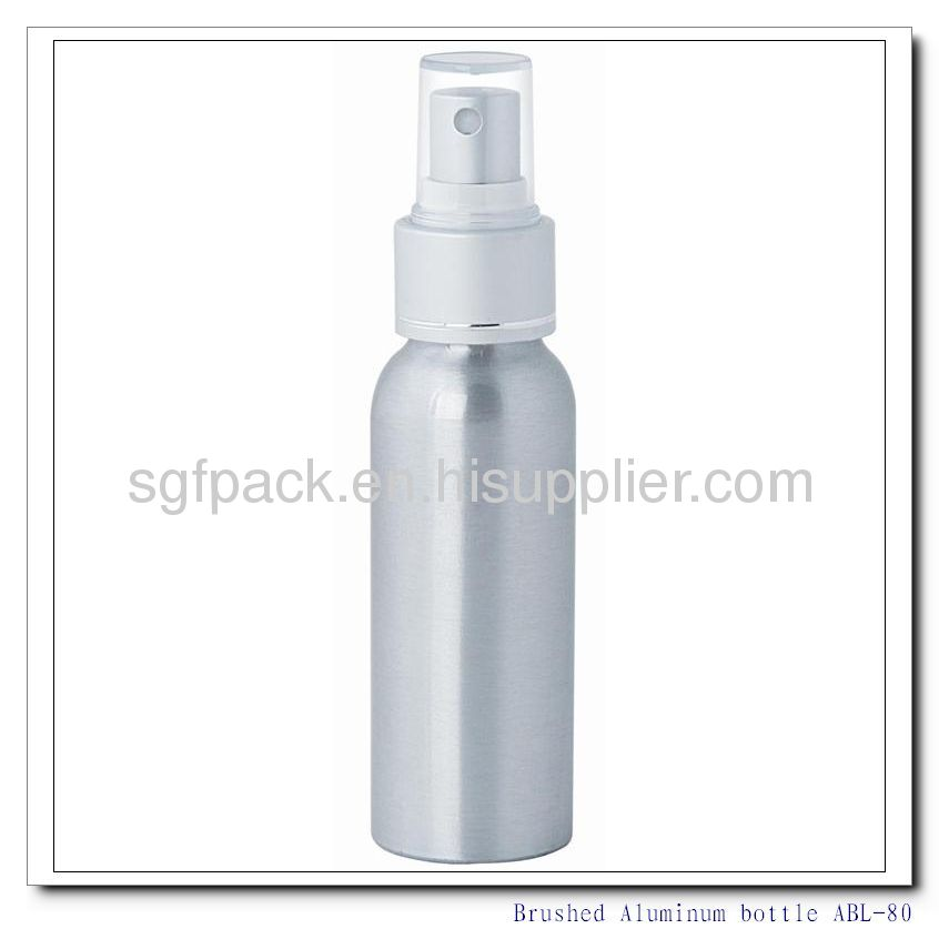 Brushed Aluminum bottle shampoo conditioner hair serum body wash and lotion bottle Aluminum container Aerosol bottle