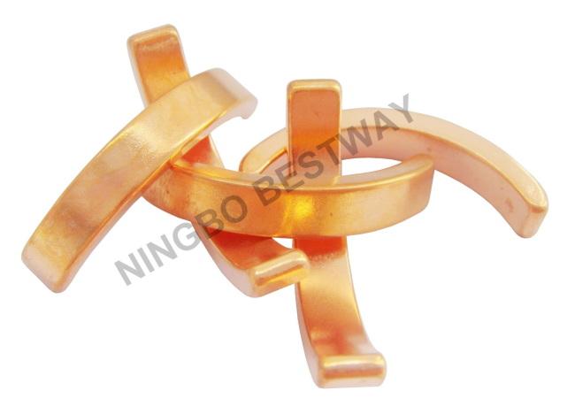 Arc Neodymium magnets with Cooper coating