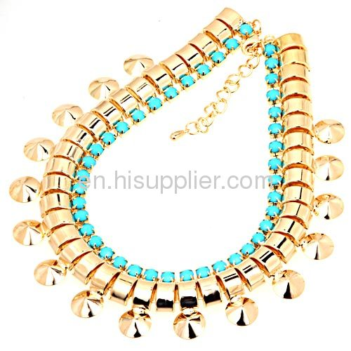 Wholeslae Bubble Bib Gold Chunky Chain Choker Necklace
