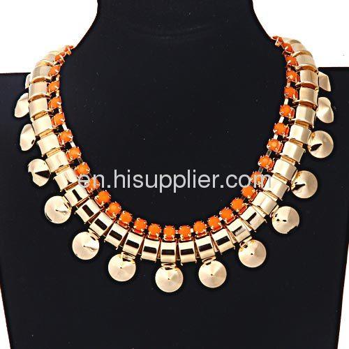 Wholeslae Bubble Bib Gold Chunky Chain Choker Necklace