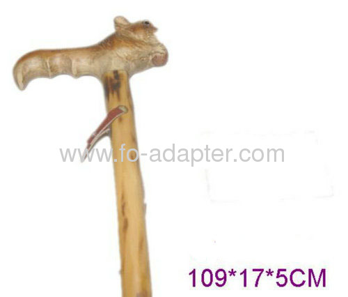 Moth Proofing Wooden Carved Owl Shape Walking Stick