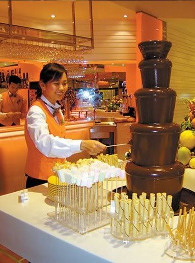 390WsephraCommercial chocolate fountain