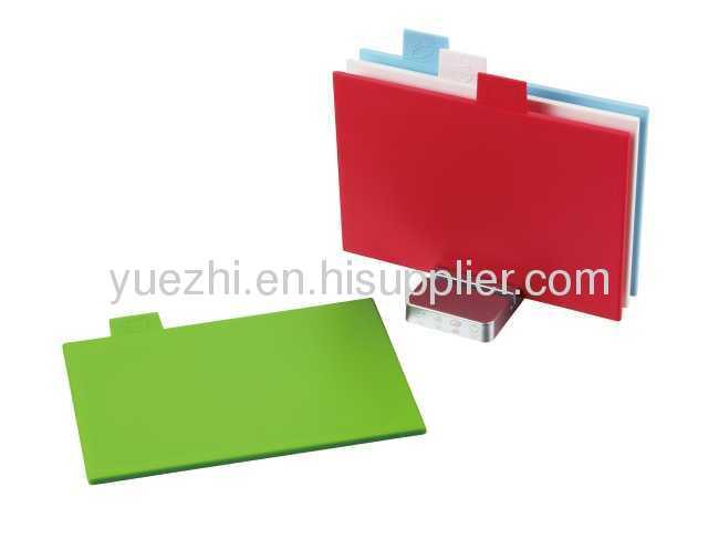 4pcs index chopping board multi function cutting board