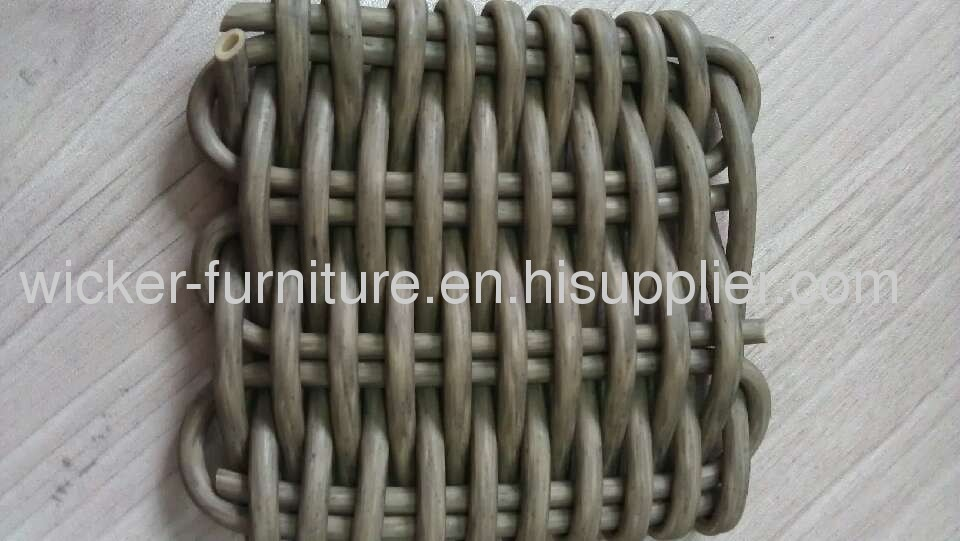 Round outdoor wicker furniture sectional sofa