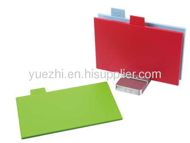 3pcs colour coded index chopping board