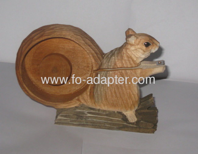 Squirrel Tape Dispenser Wooder Engrave