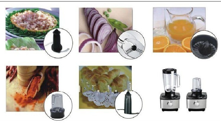 800W kitchen multifunctional food processor