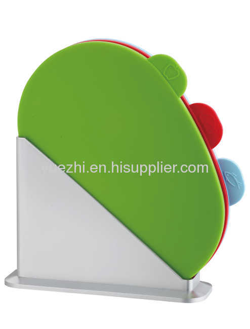 (oval shape board ) 3pcs index chopping board