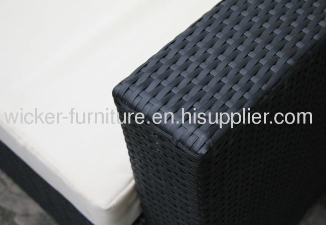 Comfortable outdoor wicker furniture sofa set