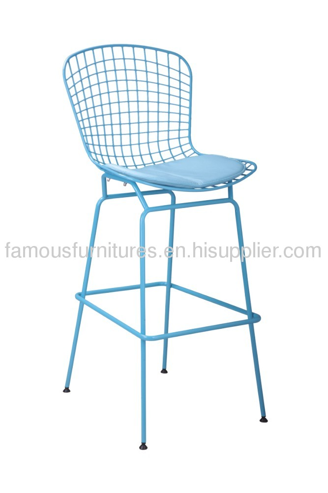 Modern Upholstered Baby Chair removable cushion chromed frame ergonomic children Bertoia side chairs