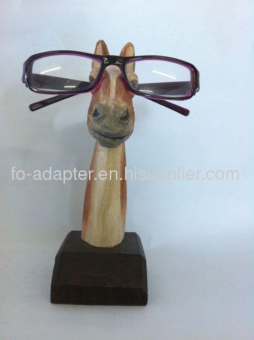 beautiful wooden carved eyeglasses holder