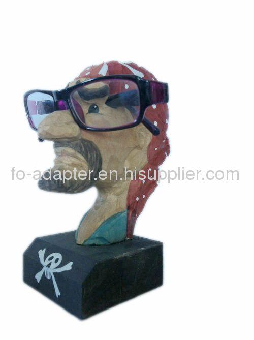 handmade wooden eyeglasses holder
