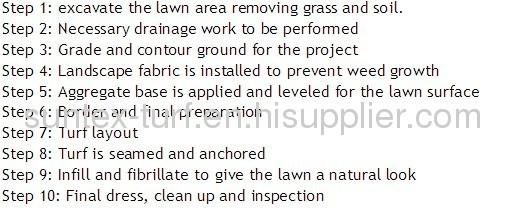 As mais baratas grama artificial para decoração de jardim