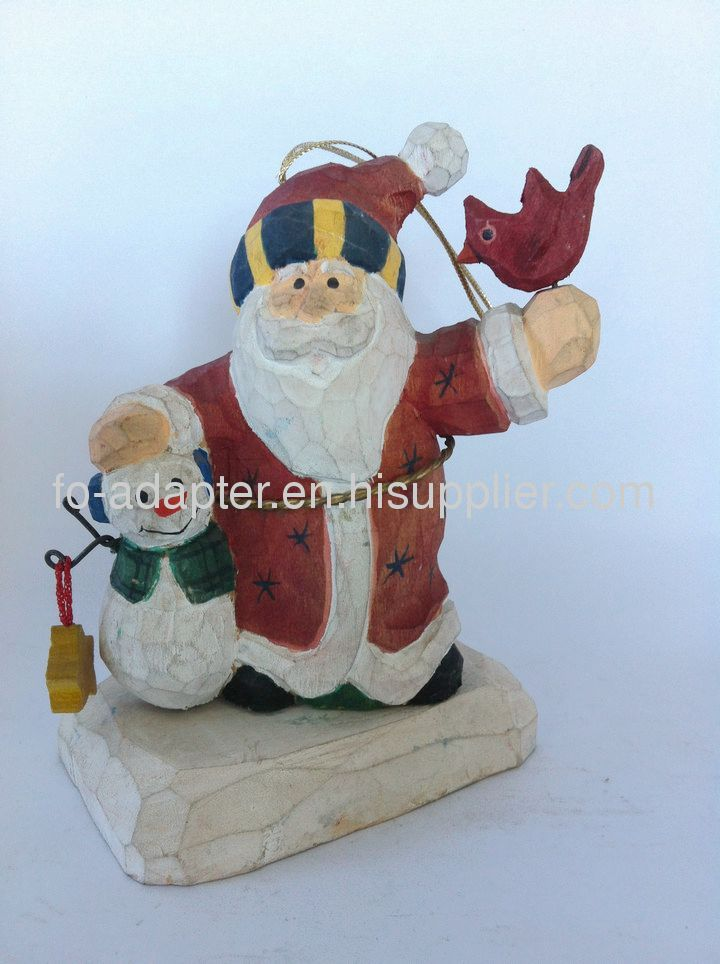 2013 hot sale handmade rustic wood snowman craft